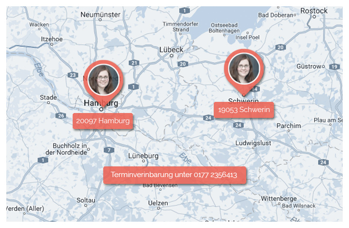 Karte Standorte Nadine Sperling